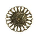 10pc 49mm antique bronze finish filigree wraps-9850