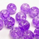 12pc 10mm round crackel glass bead-1633