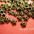 24pc 7mm antique bronze finish metal bead cap-1699
