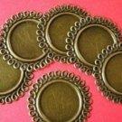 6pc 46mm  antique bronze finish metal connectors-1661