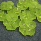 10pc acrylic flower shape bead-green-1727