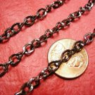 5 feet 5.5x4.5mm gunmetal unsoldered chain-1418A