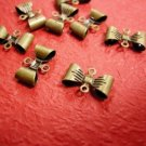 25pc antique bronze finish butterfly metal connector-455