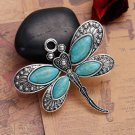 1pc  60x53mm zinc alloy butterfly with stone pendant -7955L