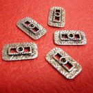 6pc antique silver finish metal alloy links-2831