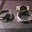 6pc platinum look adjustable ring shanks-1867