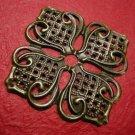 4pc antique bronze finish filigree large flower wrap-3259
