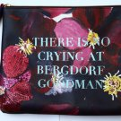 New Ashley Longshore for Bergdorf Goodman Floral Makeup Bag Pouch Clutch Limited
