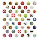 Christmas Holiday Mini Buttons 50 Unique Pins Complete Set JCP 2012 JC Penney