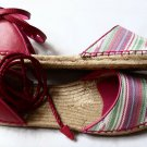 UGG Libbi Serape Women`s Shoes d`Orsay Espadrille Flat Sandals 10 Pink Multi New