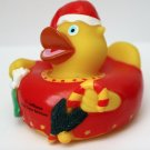 Lufthansa First Class Lounge Christmas Santa Red Rubber Duck Holiday Limited New