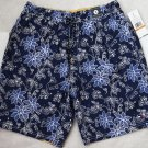 Tommy Hilfiger Swim Shorts Blue Floral Trunks S Small Bathing Suit Men`s New