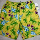 Tommy Hilfiger Swim Shorts Floral Trunks M Yellow Bathing Suit Men`s New