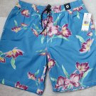 Tommy Hilfiger Swim Shorts Floral Trunk Small S Blue Bathing Suit Men`s New