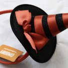 Gymboree Orange & Black Witch Girl`s Bow Hat Headband Head Band Catastic New