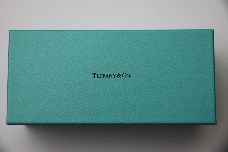 "Authentic Tiffany & Co Blue Gift Box Ribbon Empty 7"" Jewelry Sunglasses New"