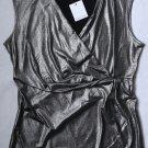 NWT Calvin Klein Metallic Top Blouse S 4 6 Party Evening Sleeveless Women`s New