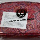 ETRO Japan Airlines First Class Amenity Kit Cosmetic Bag Pink Paisley New