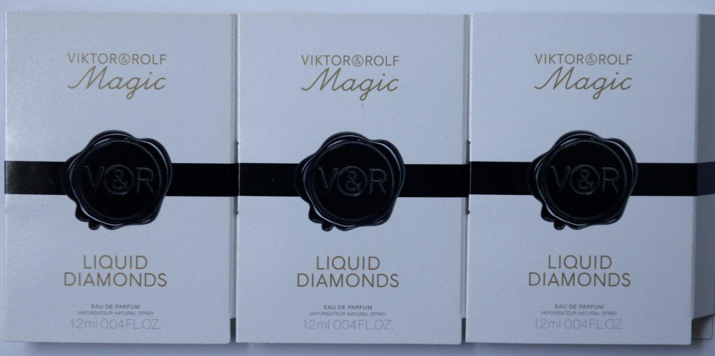 3 x Viktor & Rolf Liquid Diamonds Magic Collection Eau de Parfum Sample EDP Lot
