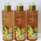 3 x 8 oz Bath & Body Works Peach Citrus Signature Collection Fragrance Mist Lot