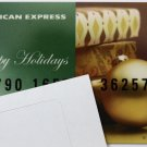 American Express Collectible Gift Card Christmas Ornament Empty No $0 Value