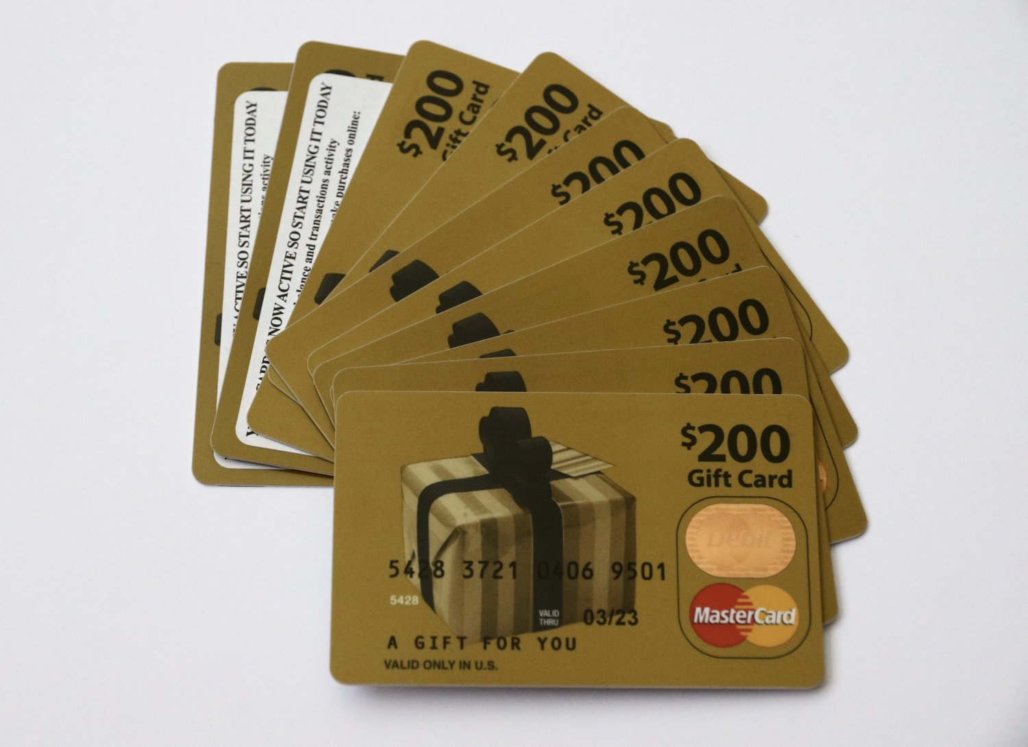 10 Master Card Collectible Debit Credit Gift Card Empty No $0 Value US Bank
