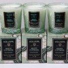 3 Voluspa White Cypress Candle Travel Mini Candles Lot