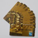10 American Express Bank Card Collectible Debit Credit Gift Card Empty No $0 Value
