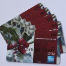 5 American Express Bank Card Red Berries Collectible Debit Credit Gift Empty No $0 Value