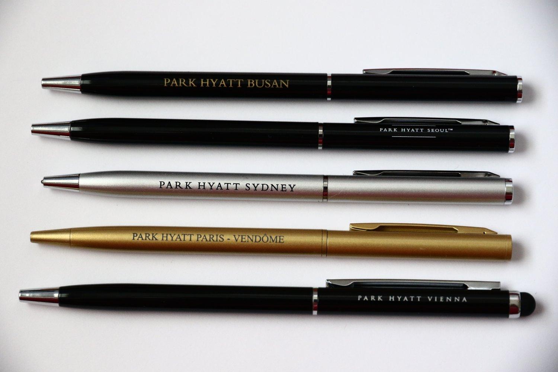 5 Park Hyatt Hotel Pens: Sydney Vienna Paris Seoul Busan Collection Pen Lot Set