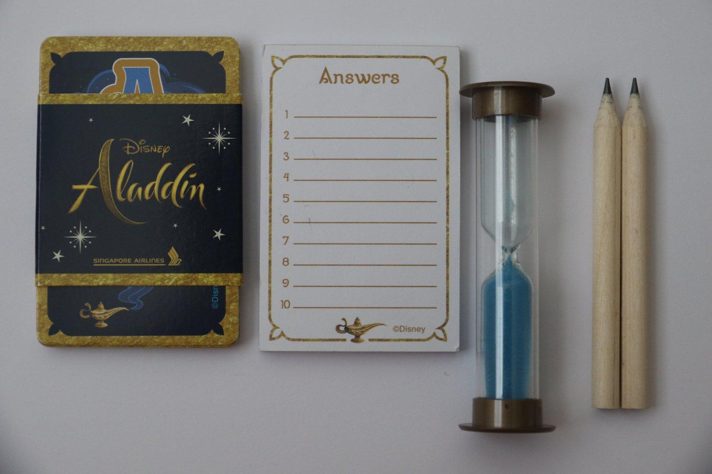 Aladdin Disney Kid`s Card Sand Game Set