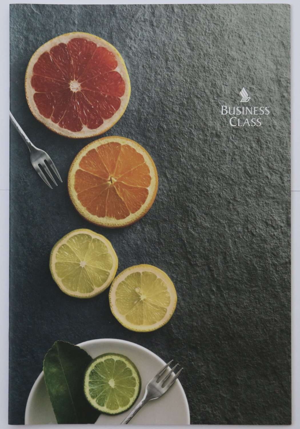 Singapore Airlines SQ 231 Business Class Airline Menu SIN - SYD 11 2019 Sydney