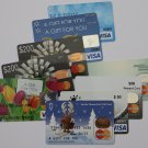 10 Visa Master Card Collectible Debit Credit Gift Card Empty No $0 Value Bank
