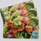 3 American Express Bank Card Floral Collectible Debit Credit Gift Empty No $0 Value