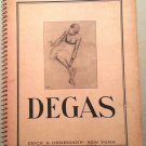 Hilaire-Germain Edgard Degas, 1834-1917: 30 Drawings & Pastels-Spiralbound-1944