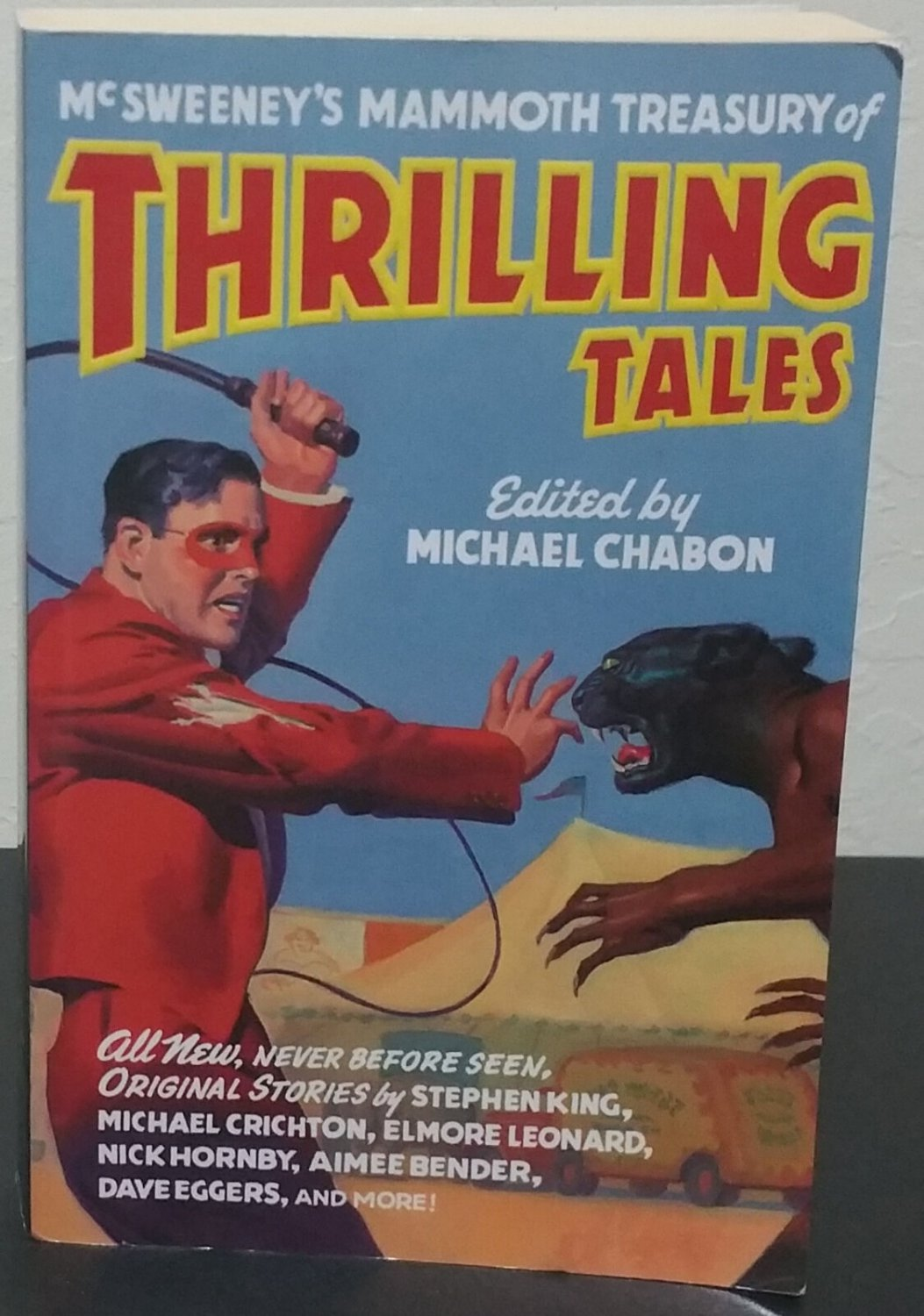 McSWEENEY'S MAMMOTH TREASURY OF THRILLING TALES by Michael Chabon-Signed 1st Pb