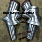 Gothic Medieval Knight Full Steel Arm Guard Armor Costume