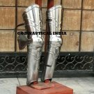 Gothic Larp Warrior Bracers and Greaves Arm Leg Armor combo