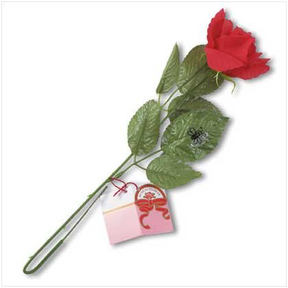 MUSICAL LONG STEM RED ROSE