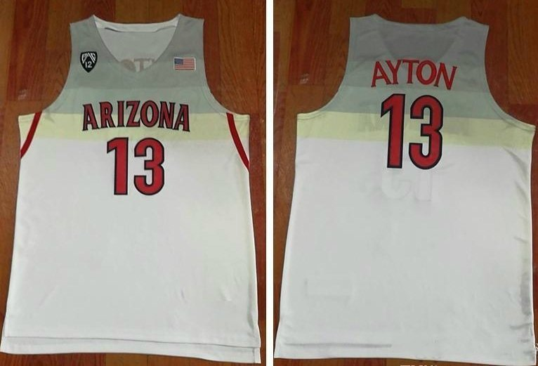 various colors 6972f d0fe7 Men's Arizona Wildcats DeAndre Ayton White College Basketball Jersey  Stitched