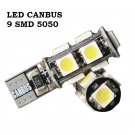 2x T10 BULBS 9 SMD LED SIDELIGHTS CANBUS WHITE MERCEDES E CLASS Renault Clio MK4