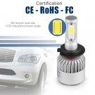 Pair Bulbs H7 Led Headlights 72W Canbus 6500K White Low Beam 8000-Lumen Free Error