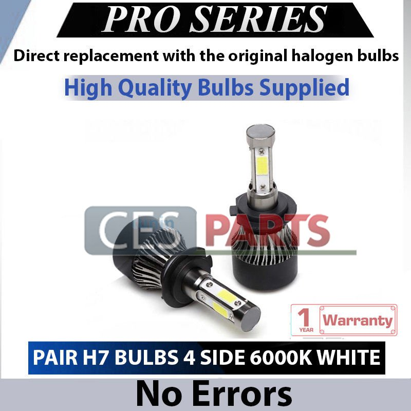 2x H7 Led Headlight 110W Bulbs 6000K DIAMOND WHITE 11000LM Low Beam For BMW AUDI VW FORD
