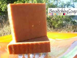 Honey Cinnamon--Cold Process Handmade Soap w/ Shea Butter FREE SHIPPING