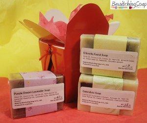 Soap Gift set of cold process soap Calendula, Chlorella, Lavender