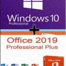 Windows 10 Pro + Office 2019 Pro 32\64 bits. Lifetime license key