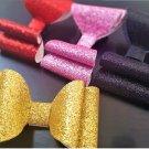 2pcs Glittered Canvas Hair Bow Girls Hair Accessories