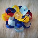 2pcs Autism Awareness inspired Hair Bow Girls Hair Accessories