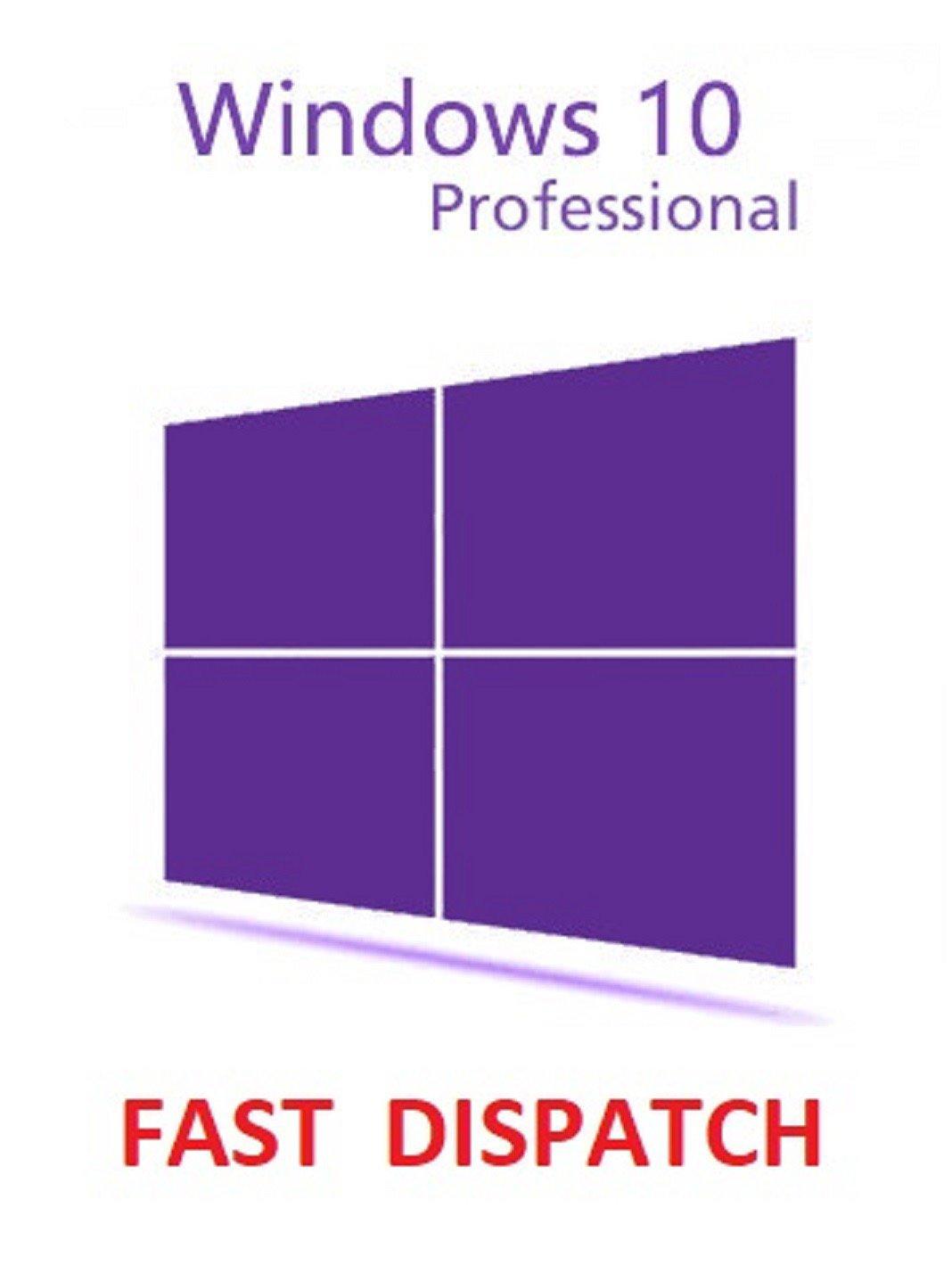 Windows 10 Pro Professional 32/64 bit Genuine License Key Product Code