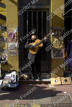"""Tango Guitarist in Doorway 4 x 6"""""""